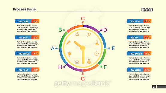Day Schedule and Clock Slide Template