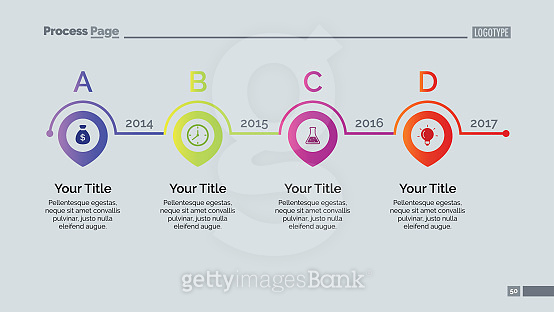 Four Points Timeline Slide Template