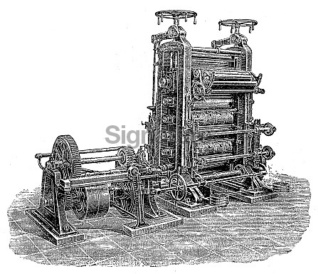 The paper industry machine