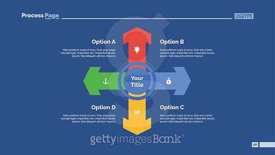 Four Directions Strategy Slide Template