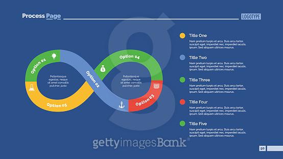 Five Steps Infinity Sign Slide Template