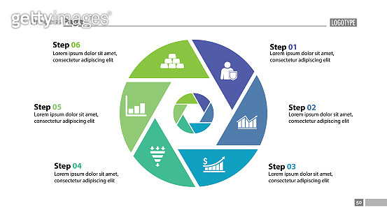 Six Steps Circle Slide Template