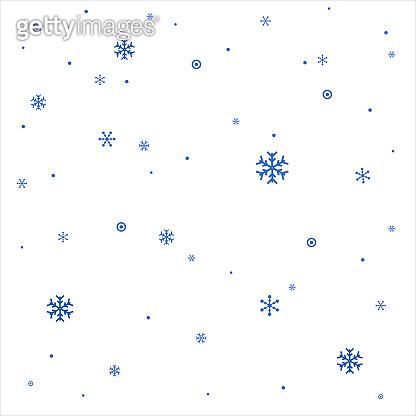Realistic Vector Snowflakes .