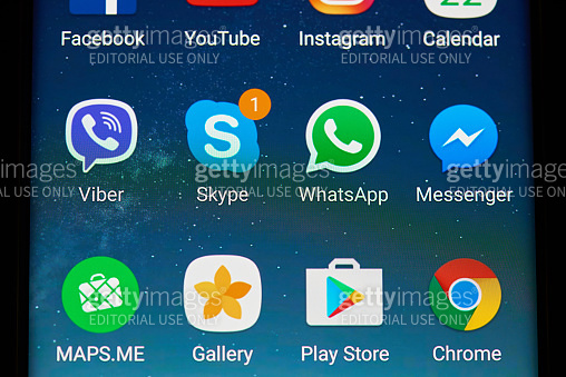 Mobile phone applications on screen
