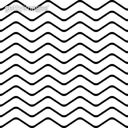 Pattern stripe seamless black and white colors. Wave pattern stripe abstract background vector.