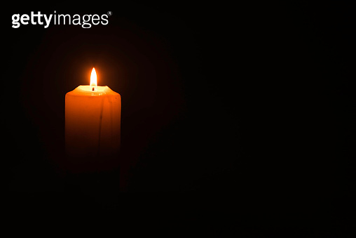 Candlelight on the black background