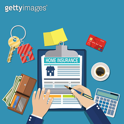 home insurance form concept