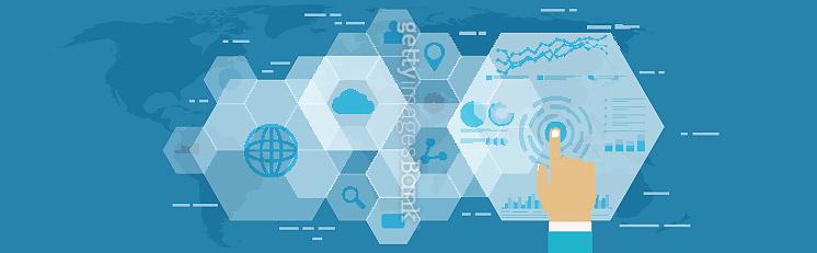 Digital web analytics. Business technology in digital space, SEO optimization, marketing concept.