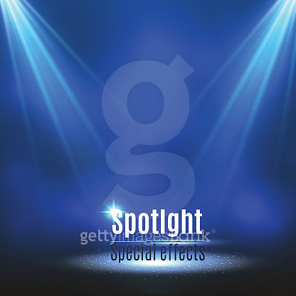Festival Poster with Spotlight. Concert, Party, Theater, Dance Show Design. Empty Scene with Stage Curtain. Poster Template with Light Effect. Vector illustration
