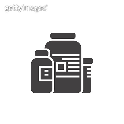 nutritional supplements icon vector