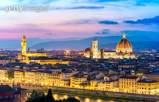 The City of Florence as Seen From Michelangelo Hill, Tuscany, Italy