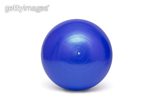 Blue pilates ball