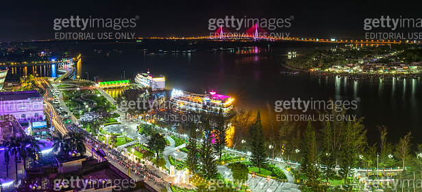 Ninh Kieu wharf at night change over time shows economic development