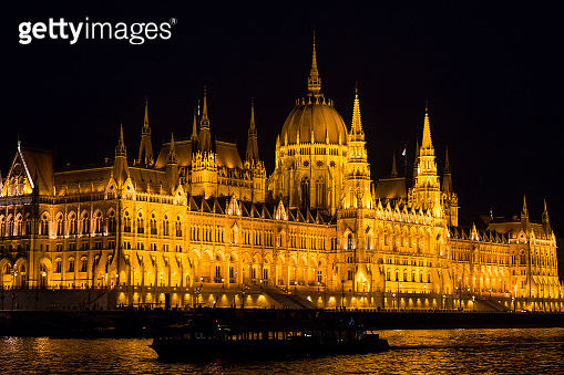 Parliament of Hungary in the night capital