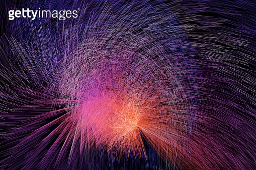 Pretty technology lines of particle background