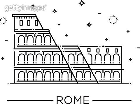 Colosseum in Rome icon.
