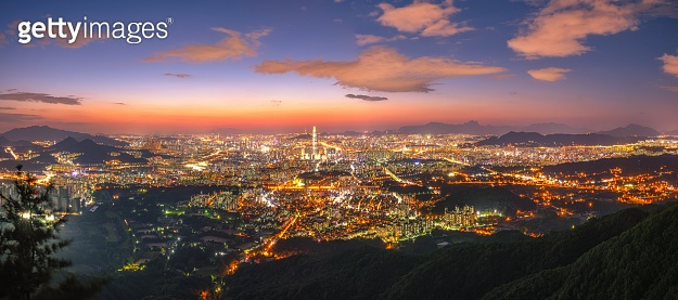 Korea,Seoul cityscape at night, The best view of South Korea