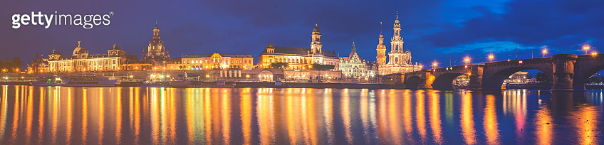 Panoramic image of Dresden, Germany