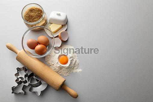 Baking: Baking Ingredients Still Life