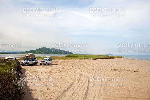 KHASAN, RUSSIA - JULY 23, 2015: Automobile camp