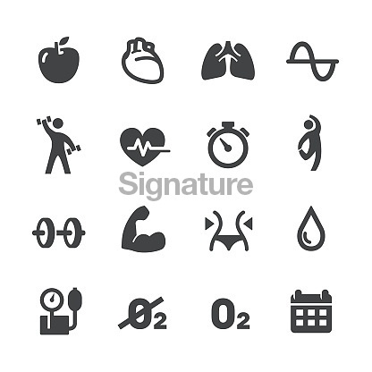 Fitness and Exercise Program Icons - Acme Series