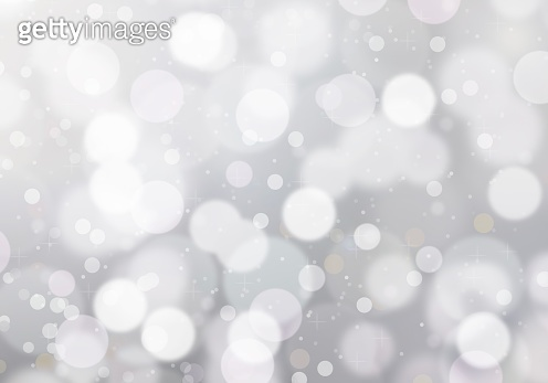 Xmas new year winter blurred lights background