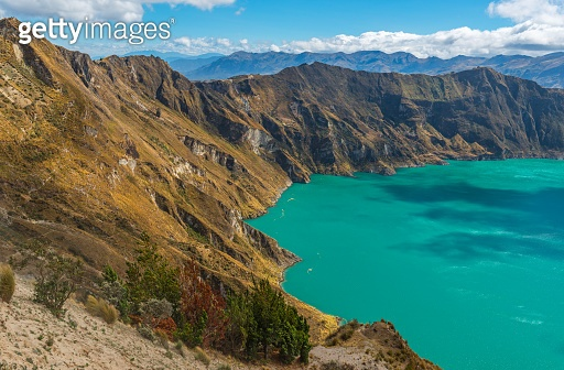 Quilotoa Andes Volcanic Crater Lake
