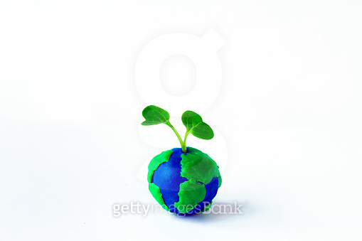 Earth clay with the sprout