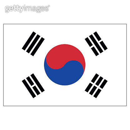 Illustration flag of South Korea. Ideal for catalogs of institutional materials and geography