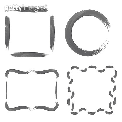 Set with Greyscale Watercolour Frames