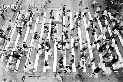 City Busy pedestrian crossing