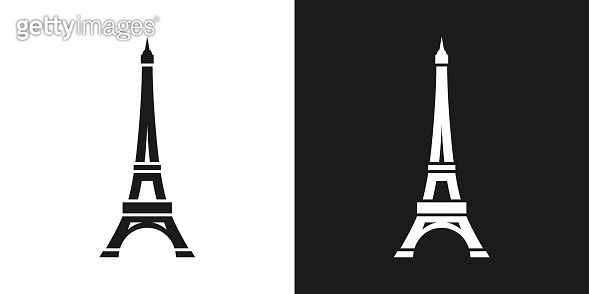 Vector Eiffel Tower Icon. Two-tone version