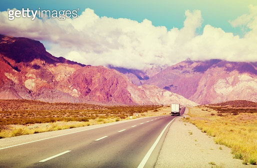View from highway RN 7 to Andes mountains
