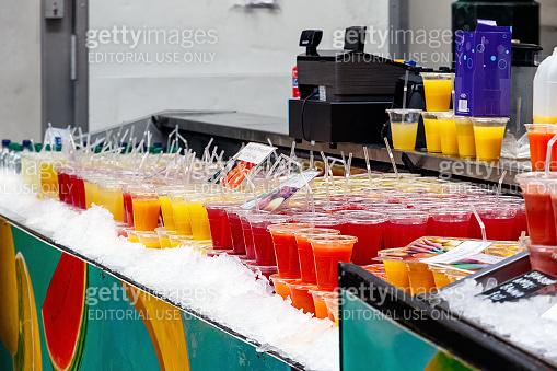 Fresh Juice on Display