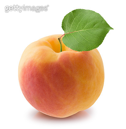 peach isolated on a white background