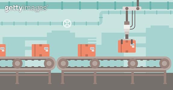 Background of conveyor belt