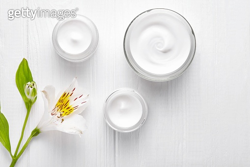 Night care cosmetic cream facial skincare beauty clinic lotion relaxation therapy, anti aging rejuvenate professional cleanser