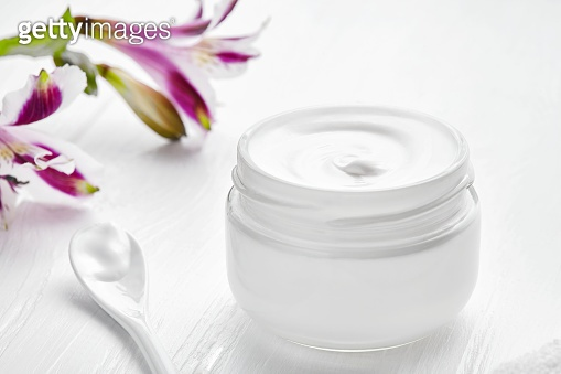 Night care cosmetic cream facial skincare beauty treatment clinic balm lotion therapy, anti aging rejuvenate professional cleanser