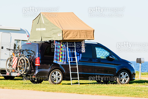 Tent on car roof
