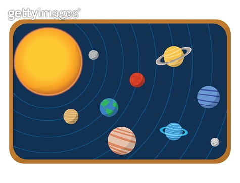 High quality solar system space planets flat vector illustration universe astronomy galaxy science