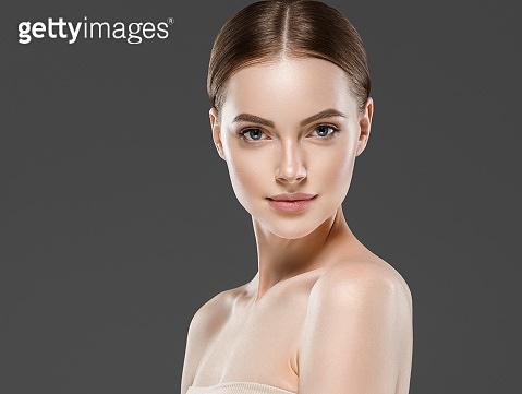 Naturzl makeup woman portrait beauty healthy skin care concept.