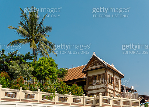 French Colonial architecture, Luang Prabang, Laos