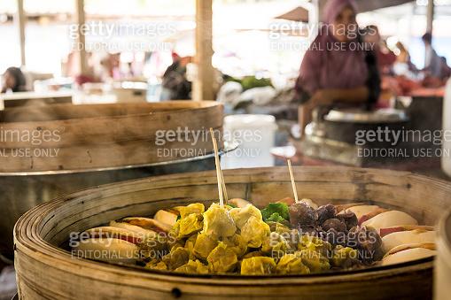 Regional Food: Steamed Dim Sum in bamboo basket