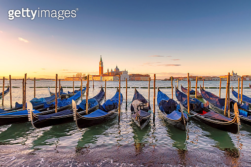 Venice sunrise in Grand Canal, Italy