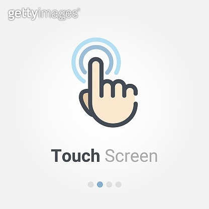 touch screen vector icon