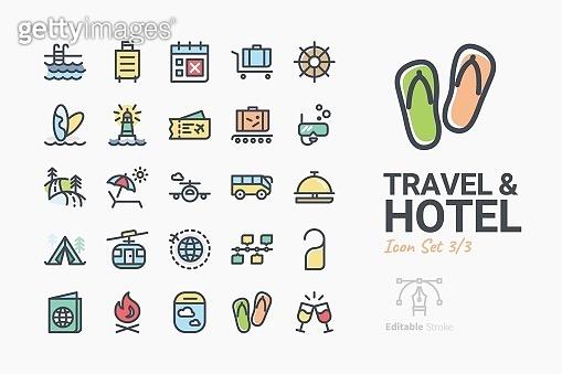 Travel & Hotel icon set 3