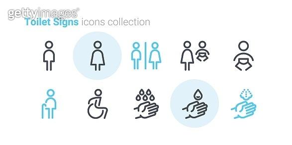 Toilet Signs icon set