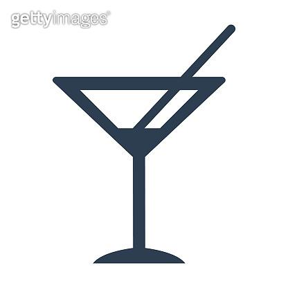 cocktail icon on white background.