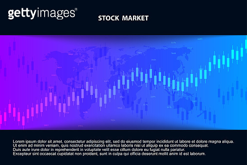 Abstract background with graph chart finance. Stock market and exchange. Business concept. Stock market data. Vector illustration