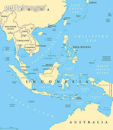 Southeast Asia, political map